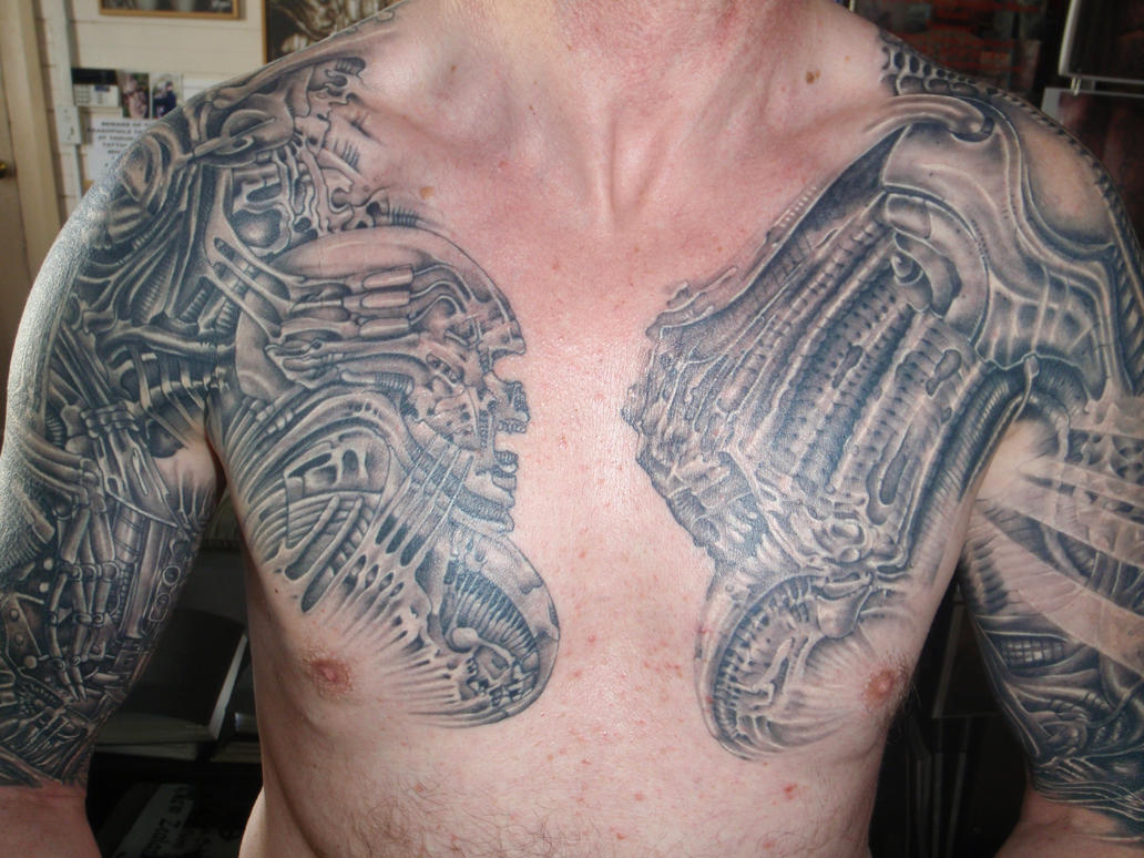 Trevs chest 1 - chest tattoo