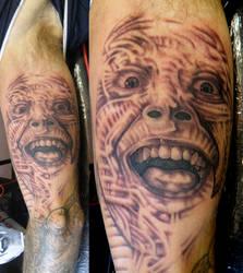 maggots arm by phoenixtattoos