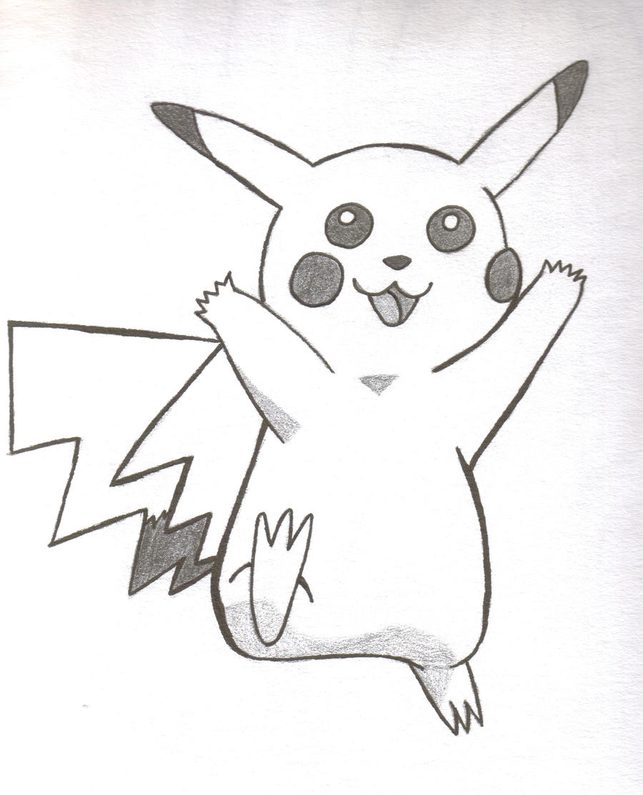 Pikachu sketch by wonderlandprincess on DeviantArt