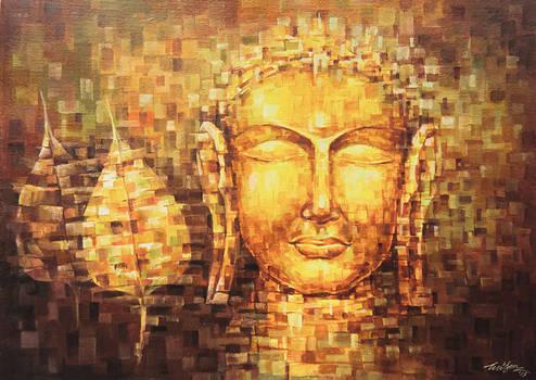 Buddha and Banyan leaf