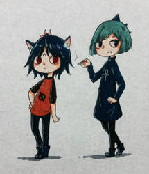 Night in the woods: Humanized MaeBea by CottonCatRie