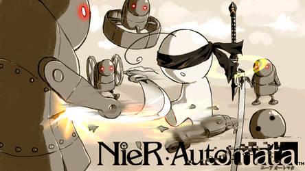 Cry streams: Nier Automata by CottonCatRie