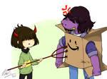 Deltarune: Devil kid vs Box monster