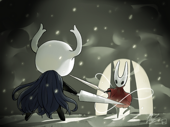 Hollow Knight: Sentinel Fight by CottonCatRie