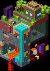 Slice of Minecraft by Sinister-Starfeesh