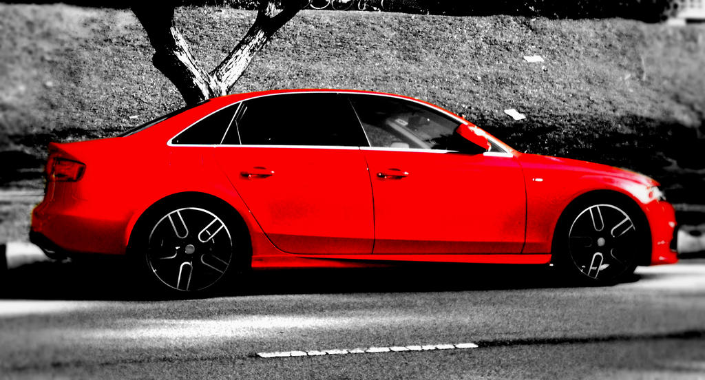 Red audi a4 s line edited by esszx on deviantart for S line exterieurpaket a4