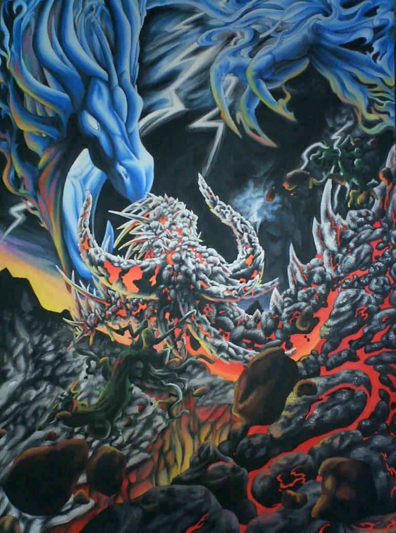 lava VS the heavens by myyrrhn