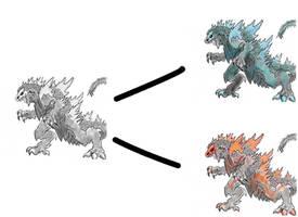 Godzilla Burning and Charged by AkagiGryphon