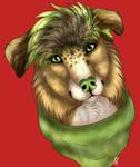 Green Bandana Dog by AnBeCreations