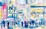 Shibuya Crossing by ceedeng