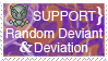 Support A Random Deviant Stamp