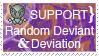 Support A Random Deviant Stamp by drawnfreak