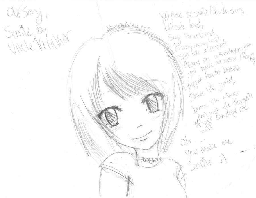 You make me smile sketch by Jillishallbitethyou
