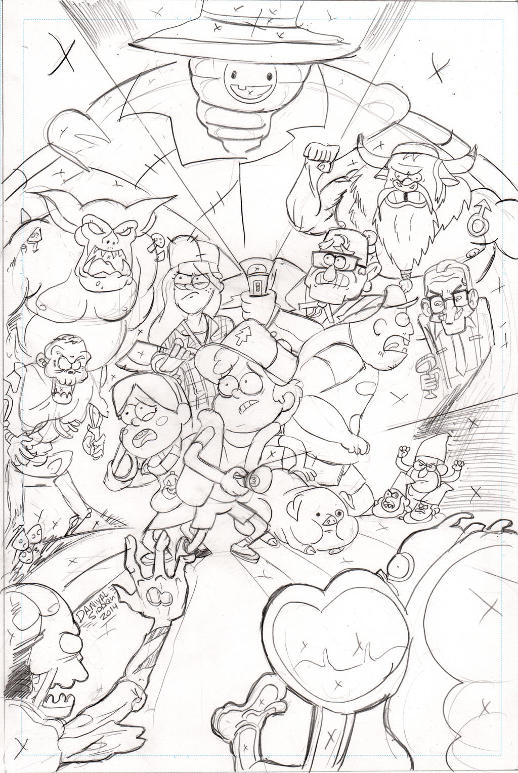 Coloring pages gravity falls -  Misterlegendary Gravity Falls Pencils Rush Job By Misterlegendary
