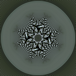 Elephant spiral tiling with central transformation