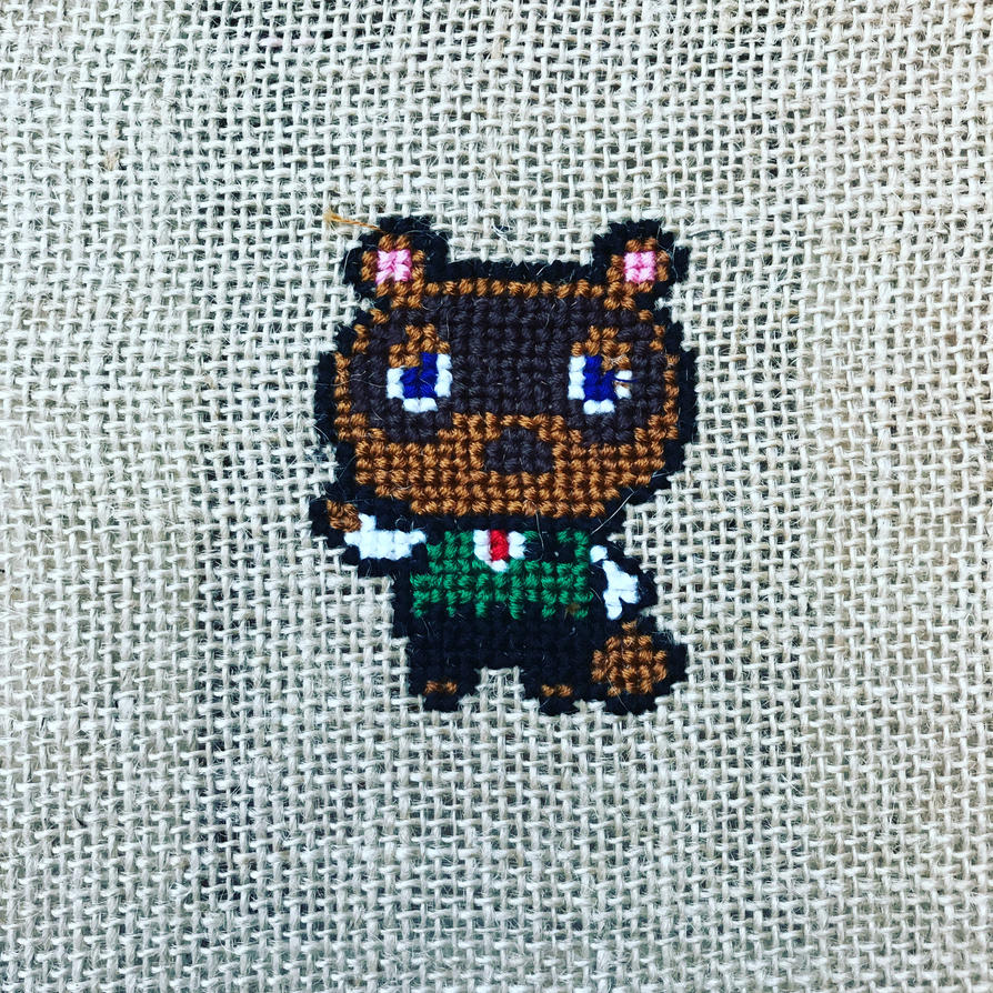 Animal Crossing Mr Nook Cross Stitch By Phantomheero On Deviantart