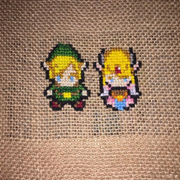 CrossStitch: Legend of Zelda by Phantomheero