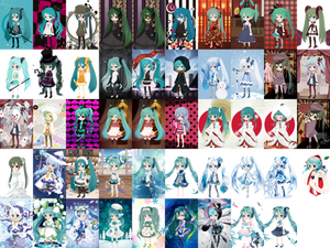 Hatsune Miku - official @games outfits