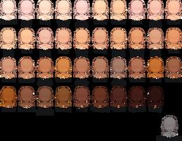 Beige/natural skins tones by Charlie-Suiko