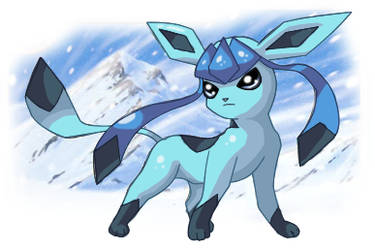 Glaceon in the Snow by VelocityRiot