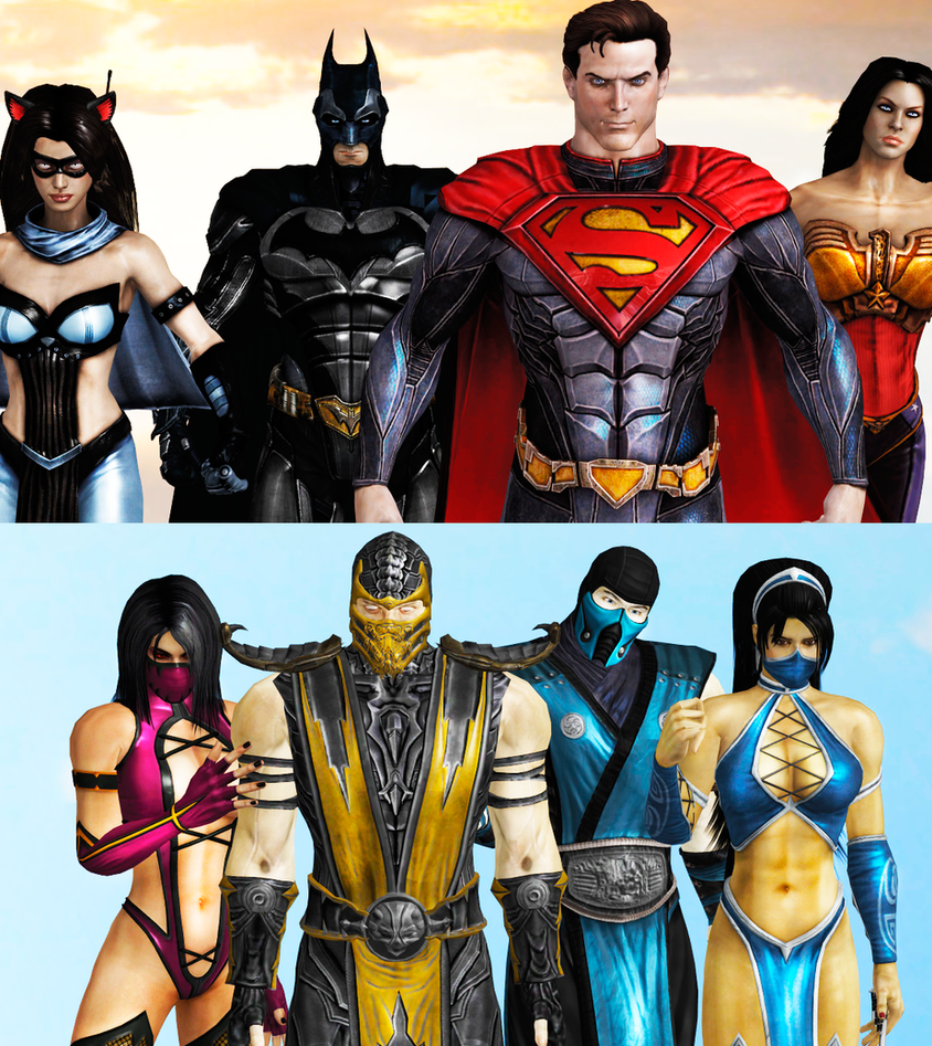 Mortal kombat vs dc universe catwoman and  naked tube