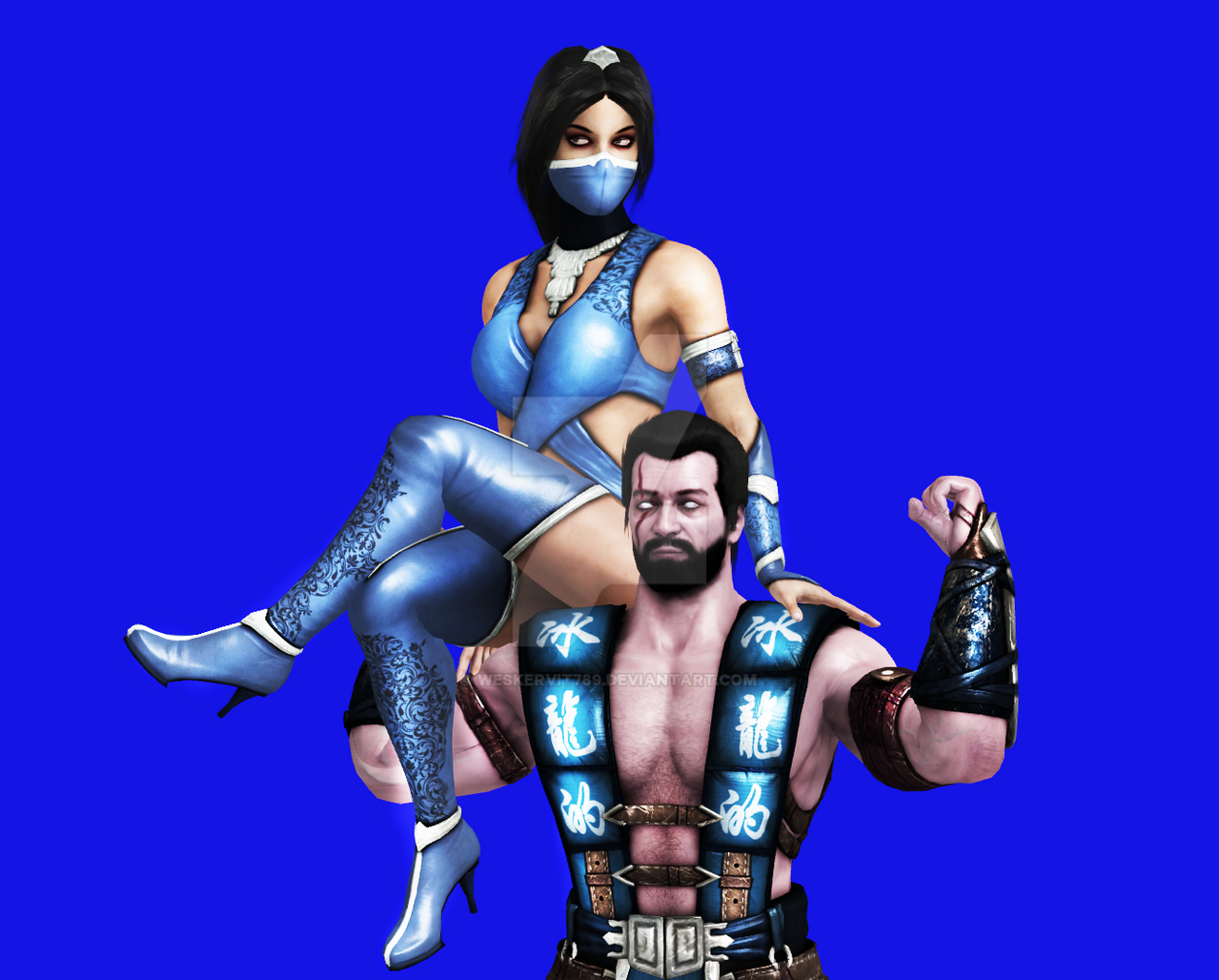 Mortal kombat kitana and sub zero kiss