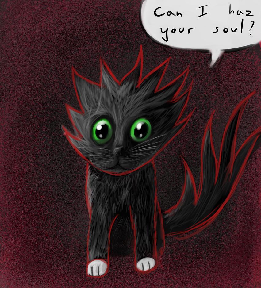 Cute little demon kitty by dzm97