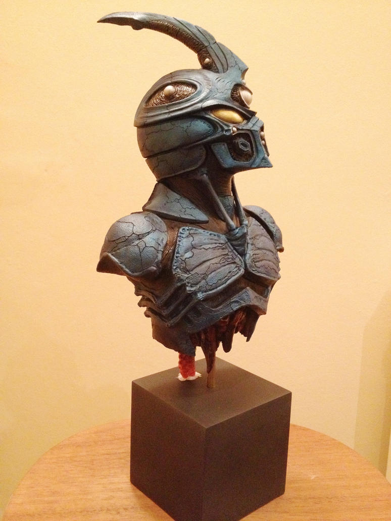 Finished painted Guyver Bust by Mutronics