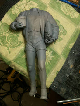 Mathilda Leon Statue in progress