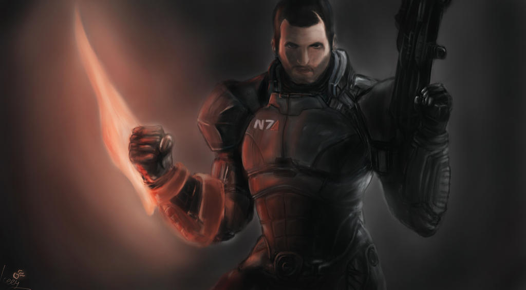 Shepard from Mass Effect by Iceey23