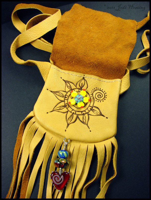 Lotus Moon Medicine Bag inside view by andromeda
