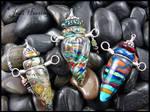 Glass Lampwork Vessel Bottles