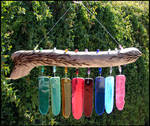 Driftwood and Glass Wind Chime