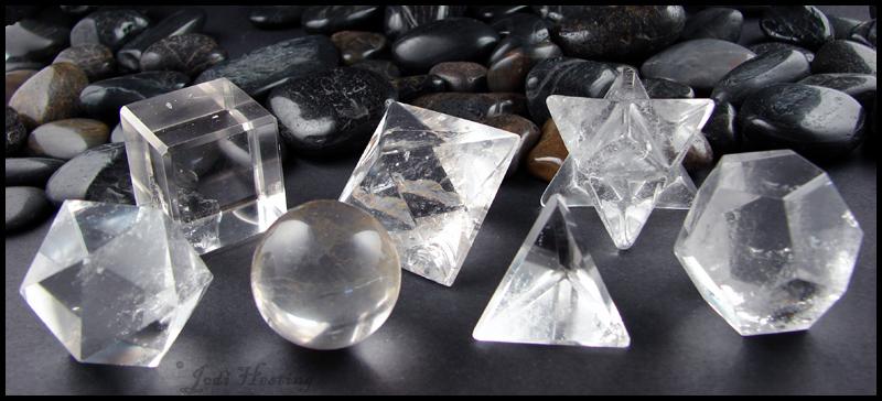 Quartz Crystal Set - Platonic Solids by andromeda