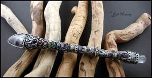 Magundi - clay chakra wand