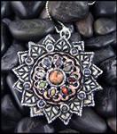 Sarajo - Lotus - Polymer Clay Pendant