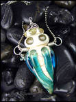Call of the Sea - Glass Lampwork Bottle Pendant