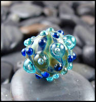 Cosmic Urchin - Glass Lampwork Bead by andromeda