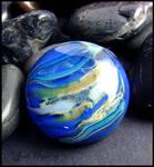 Neptune - Glass Lampwork Cabochon