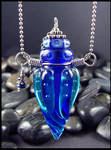 India Ink - Glass Bottle Pendant