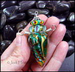 Zuni Sun - Glass Lampwork Bottle