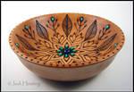 Blue Lotus - Wooden Offering Bowl
