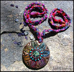 Ariona - Polymer Clay and Glass Talisman Necklace