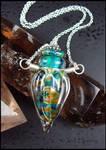 Demeter - Lampwork Glass Bottle Vessel Necklace