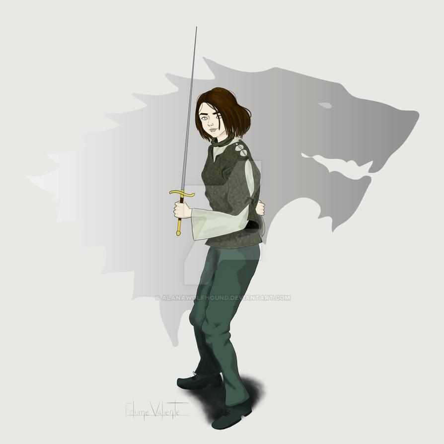Arya Stark (II) by AlanaWolfhound