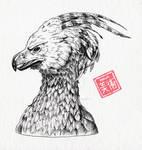 Phoenix ink drawing