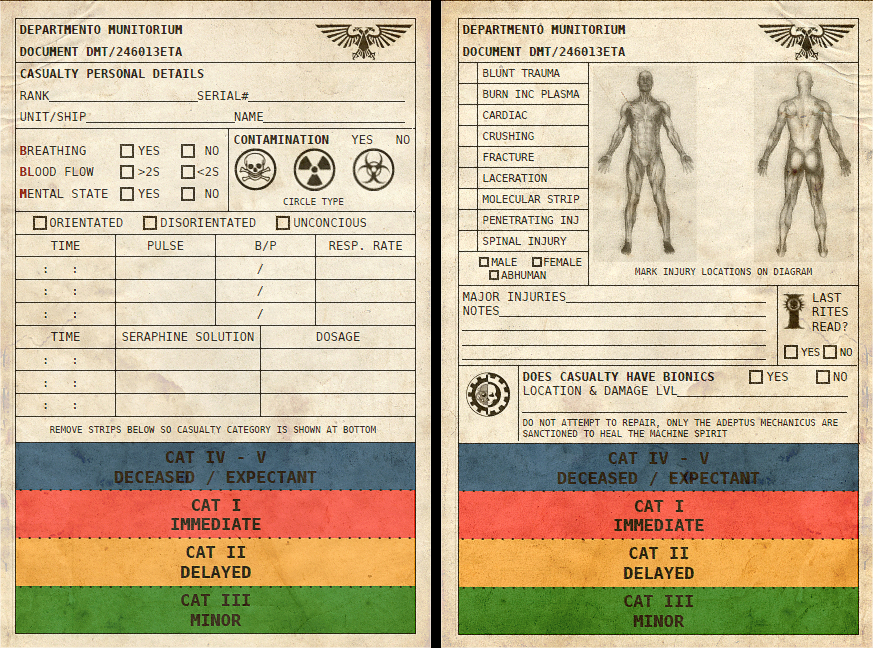 Warhammer 40k Imperial Guard Triage Tag by Light-Tricks