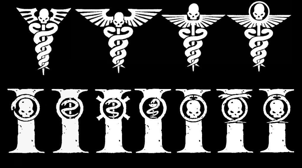 Warhammer 40k Medical Symbols - White Version by Light-Tricks
