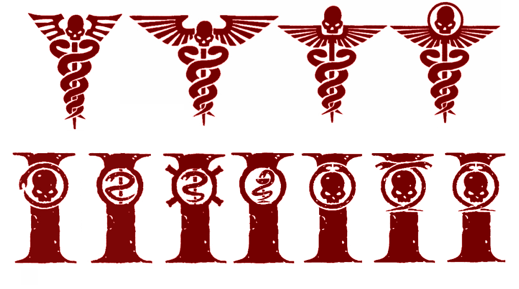 Warhammer 40k Medical Symbols - Red Version by Light-Tricks