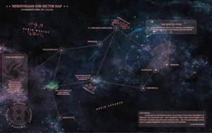 40k / Battlefleet Gothic Campaign Map by Light-Tricks